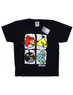 Tricou negru pentru barbati Angry Birds