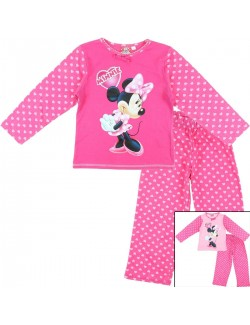 Pijama maneca lunga Minnie Mouse, copii 4-8 ani