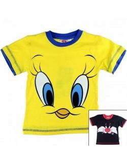 Tricou copii 2-8 ani Tweety & Motanul Sylvester