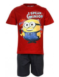 "Pijama vara copii Minions ""I Speak Minion"""
