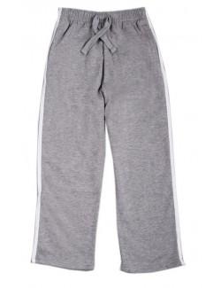 Pantaloni de trening copii, gri cu dungi albe