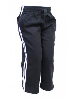 Pantaloni de trening copii, bleumarin cu dungi albe