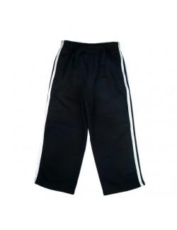 Pantaloni de trening negri cu dungi laterale albe, 2 - 6 ani