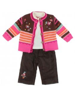 Set haine 3 piese: Pulover, Bluza, Pantaloni captusiti, fete 2-6 ani