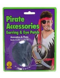 Set accesorii pirat- Acoperitoare ochi si cercel 363
