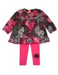 Set haine 2 piese: Bluza tunica si colanti fete 4-12 ani