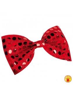 Papion cu paiete rosii - Rubies - Accesoriu carnaval