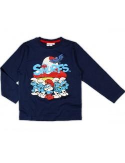 Bluza Strumfi copii, bleumarin