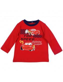 Bluza rosie bebelusi 6-23 luni Disney Cars