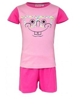 Pijama vara, pentru fete, SpongeBob, roz - fucsia