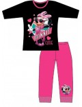 Pijama copii, Minnie Mouse, negru cu roz, 4-10 ani