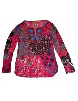 Bluza dama, casual, multicolora, maneci lungi