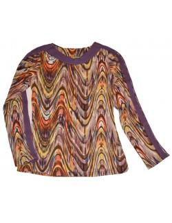 Bluza casual femei, imprimeu multicolor