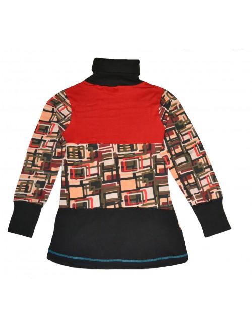 Bluza de dama cu maneci lungi si guler inalt 05.BO-522