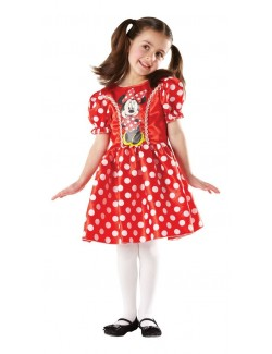 Costum Minnie Mouse Classic, rosu, 7-8 ani
