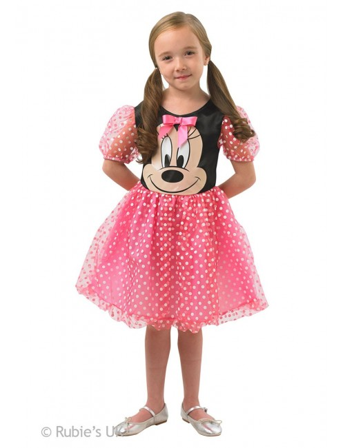Costum carnaval Minnie Mouse Puffball roz,5-8 ani