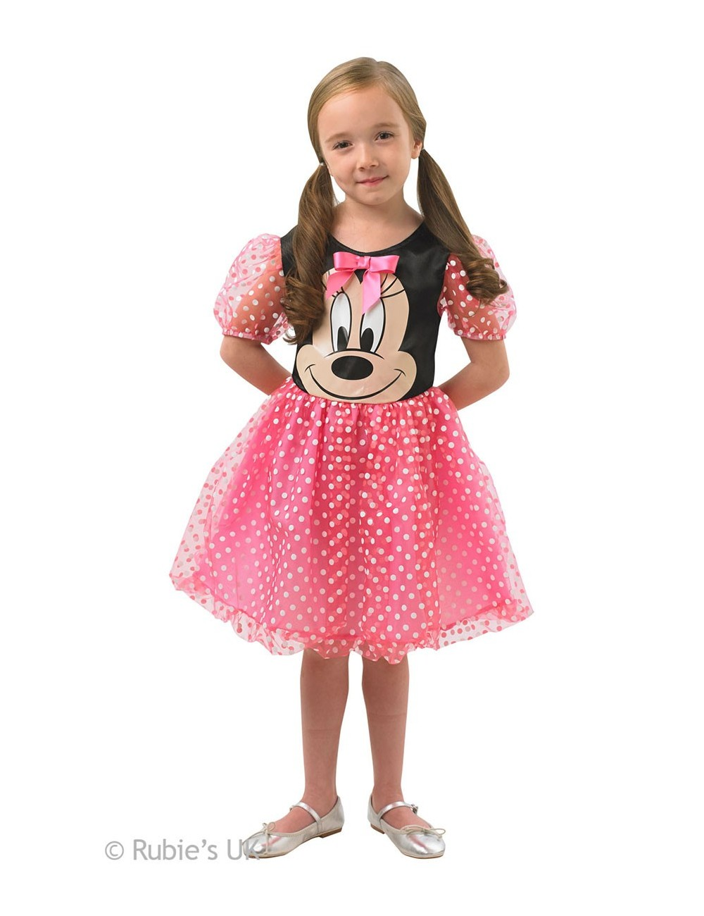 Costum carnaval Minnie Mouse Puffball roz 888831