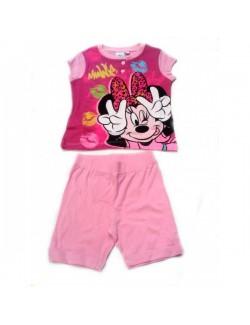 Pijama de vara copii, Minnie Mouse, roz