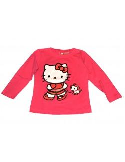 Bluza Hello Kitty, fucsia, cu maneca lunga, 3-7 ani