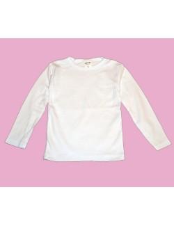 Bluze albe simple, copii de 5 -7 ani