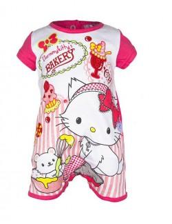 Salopeta vara bebelusi, Charmmy Kitty, culoare roz inchis OE0017