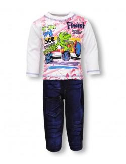 Set haine 2 piese: pantaloni si bluza maneca lunga
