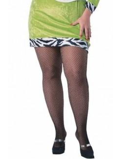 Ciorapi plasa negri femei Plus Size Rubie's 910