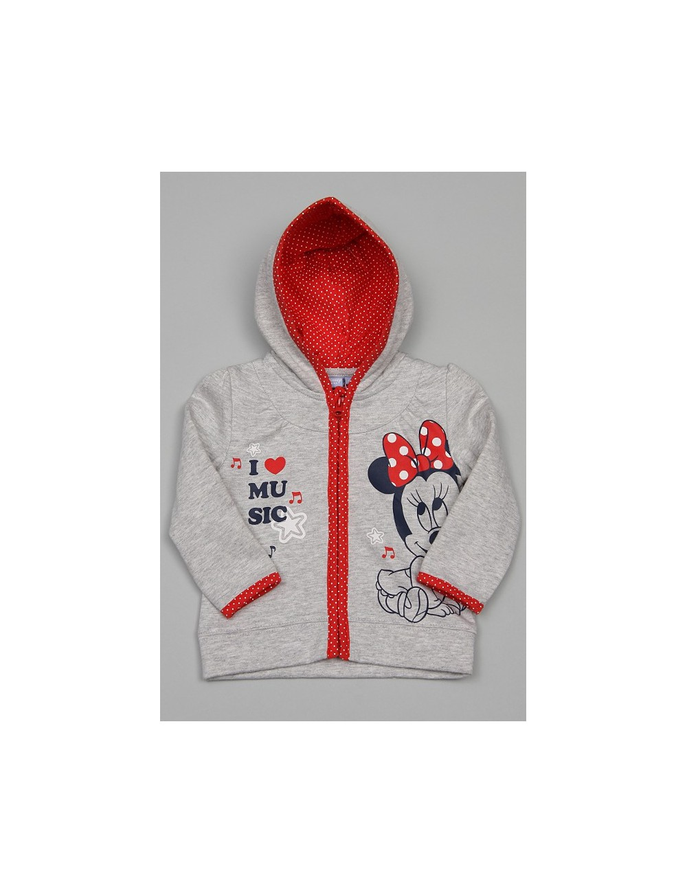"Hanorac Minnie Mouse ""I Love Music""-12 luni"