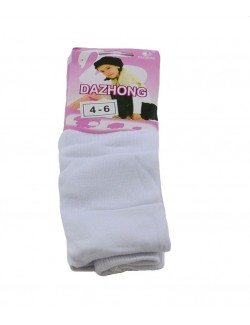 Ciorapi pantaloni albi, din bumbac - Dazhong