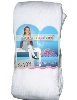 Ciorapi pantaloni albi, din bumbac - Fashion Girl