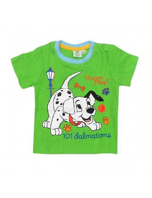 Tricou bebelusi verde 101 Dalmatieni