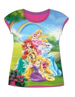 Tricouri maneca scurta Printese Disney, roz, 5 - 10 ani