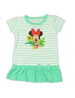 Tricou tunica bebelusi Disney Minnie Mouse, alb- verde