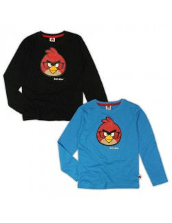 Bluza maneca lunga Red Angry Birds, 4- 10 ani