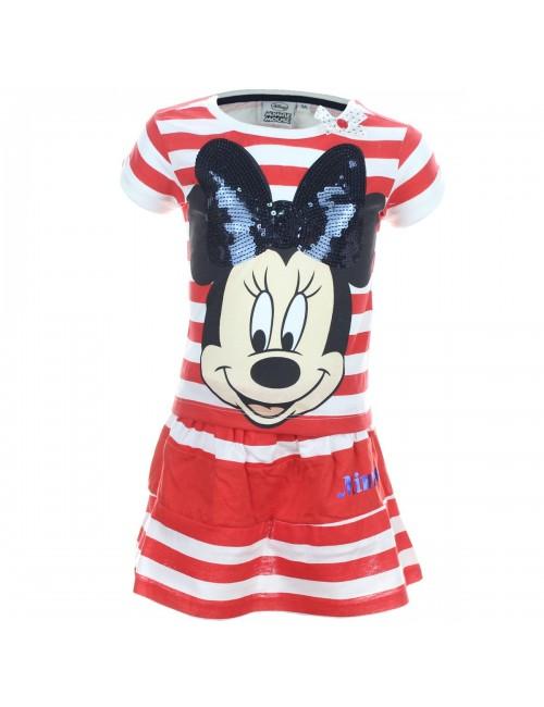 Set haine vara: Tricou si fustita Minnie Mouse cu paiete negre