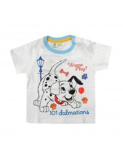 Tricou alb bebelusi Disney 101 Dalmatieni