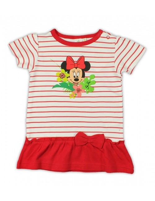 Tricou tunica bebe Disney Minnie Mouse -alb-rosu