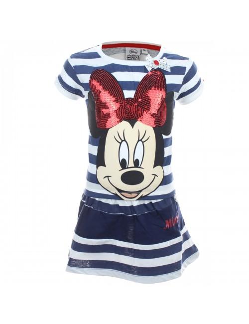 Set haine vara: Tricou si fustita Minnie Mouse cu paiete rosii