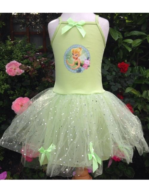 Rochie tutu Disney Zana Tinkerbelle pentru 3-6 ani