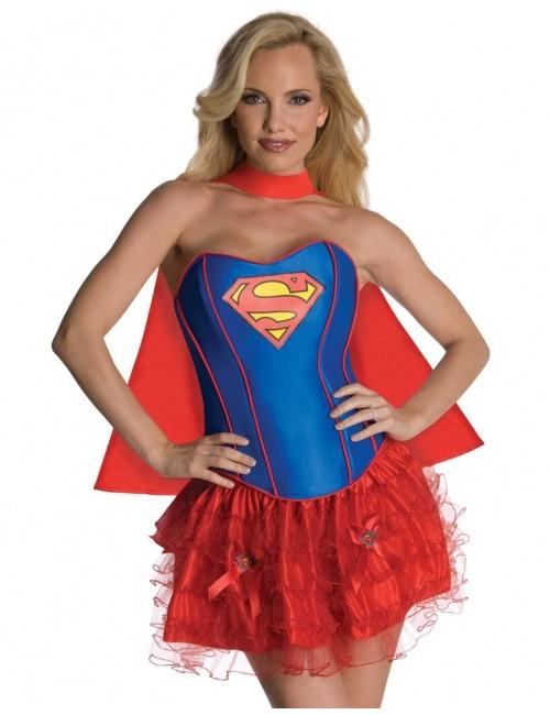 Costum carnaval femei Supergirl corset  880558 Rubie's