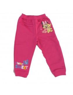 Pantaloni bebe Minnie Mouse, culoare fucsia