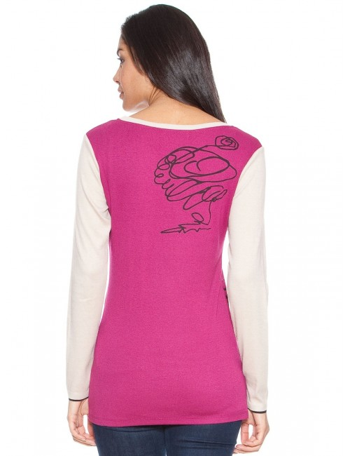 Bluza dama model floral stilizat 05.K-105-N