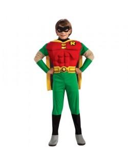 Costum copii Robin DeLuxe cu muschi (Batman)