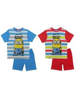 Pijama copii, Minions, cu dungi multicolore