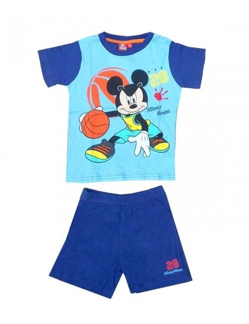Pijama de vara copii, Disney Mikey Mouse, bleu-bleumarin