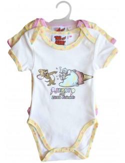 Set 2 x body maneca scurta bebelusi 1-18 luni, Tom & Jerry
