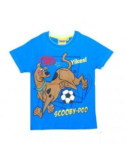 Tricou maneca scurta albastru Scooby Doo fotbalist