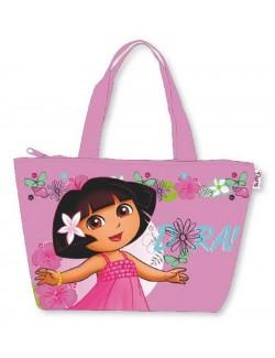 """Geanta de plaja """"Dora descopera lumea"""" 48 x 33 cm"""