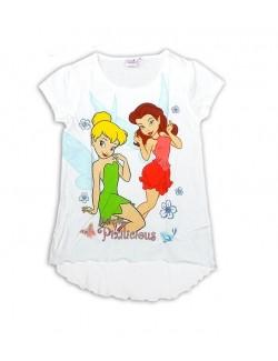 Tricou fete Disney Fairies, culoare alba