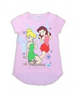 Tricou fete Disney Fairies, culoare roz